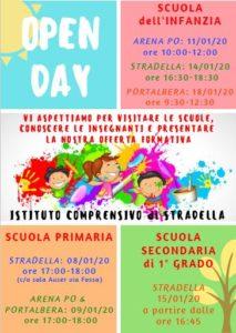 Open day scuole dell'Istituto comprensivo
